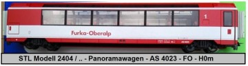 STL Modell 2404 / 3 - Panoramawagen - AS 4023 - FO - H0m